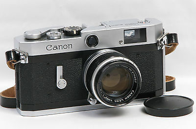 Canon Vintage Model P Rangefinder 35mm Camera with 50mm f1.8