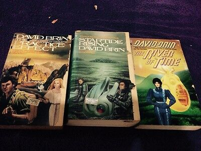 David Brin x3 Books, Titles in Listing