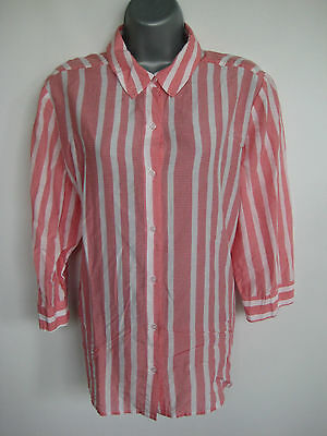 CHICO'S Womens Pink Striped Top/Shirt/Blouse Size 1 M (8)