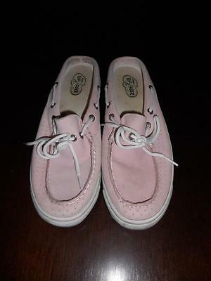 Sperry Top-Siders Women's Light Pink Leather Boat Shoes Slip On Mules ~ Size 8M