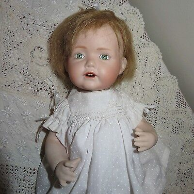 Porcelain Reproduction Antique J D K Baby Doll 32cm