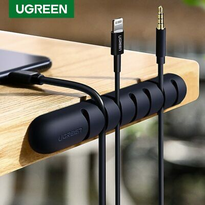 Ugreen USB Charge Cable Holder Desk Cable Winder Clips Organizer Cord Management
