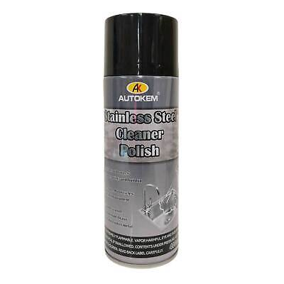 Stainless Steel Cleaner Polish Protector Spray Can Metal Steel Chrome Aluminium