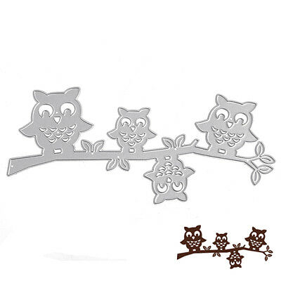 Owl Branch Metal Cutting Dies Stencil Card Embossing Scrapbooking Paper Craft