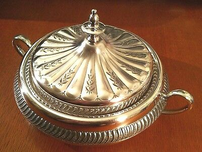 Rare Antique Victorian Barbour Bros Serving Dish with Handles and Ceramic Insert