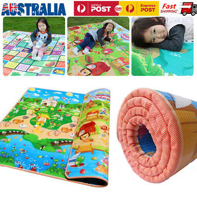 2*1.8M Waterproof Baby Play Mat Floor Rug Picnic Cushion Kids Crawling Mat OZ