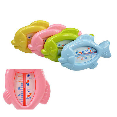 Baby Bath Tub Thermometer Safety Floating Fish Design Measure Water Temperature
