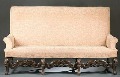 Louis XIV style sofa with floral upholstery Lot 50