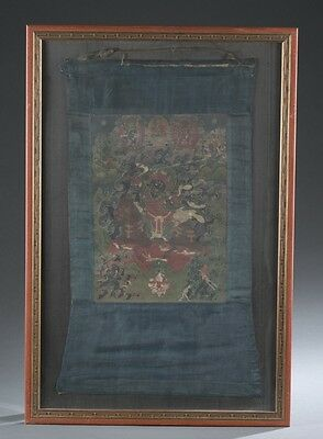 Thangka of Damchen Garwa Nagpo. Lot 377