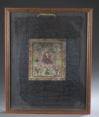 Thangka of the five Patron Gods. Lot 379