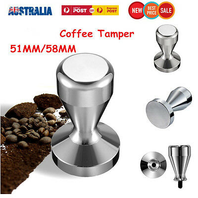 Stainless Steel Coffee Tamper Tampa Tamp Espresso Barista Press Manual Grinder