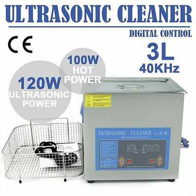 New 3L Liter Digital Ultrasonic Cleaner Stainless Steel Flexible circuit board