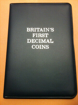 Britain's First Decimal Coins 5-pc set Uncirculated In Original Holder!