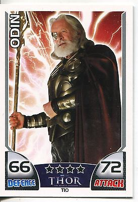 Marvel Hero Attax Series 1 Thor Subset Chase Card T10 Odin