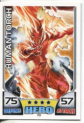 Marvel Hero Attax Series 1 Base Card #70 Human Torch