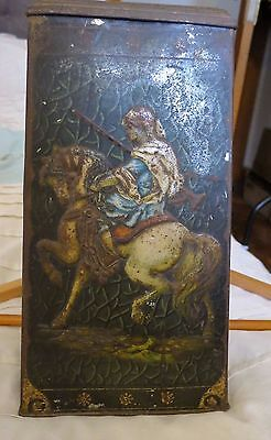 Vintage Collectable Victory V Losenges Tin Large Art Deco Warriers 1920's