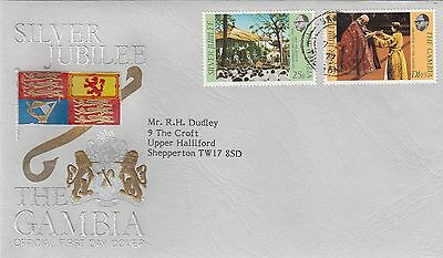 (01272) CLEARANCE Gambia FDC Queen Silver Jubilee 1977