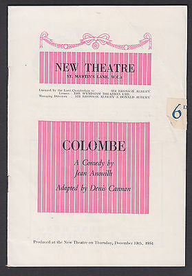 1951 New Theatre London. 'Colombe' , Arnaud. Gough, Percy, Peter BrookJZ.33