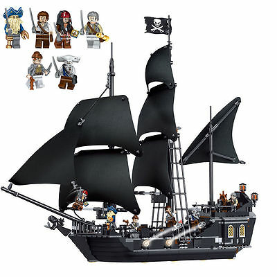 THE BLACK PEARL Pirates of the Caribbean 4184 pirate ship Lego compatible.16006