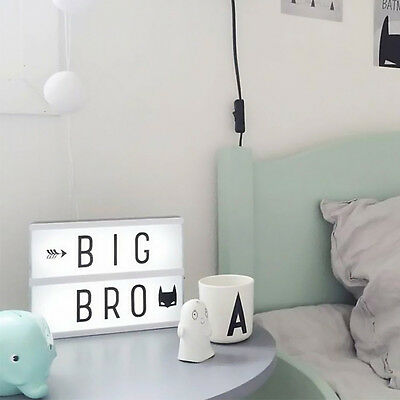 Free Combination DIY Light Box With 90 Letters Luminous DIY Letter decorative
