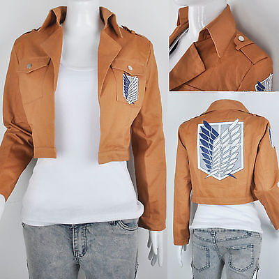 Attack on Titan Shingeki no Kyojin Scouting Legion Allen Jacket Yeager Cosplay S
