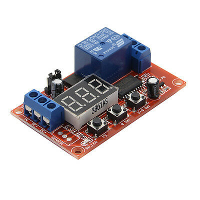 1pc High/Low Trigger 12V Digital Mobilize Multi-function Time Delay Relay Module