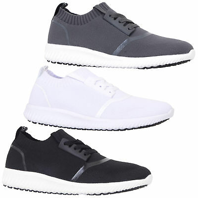 mens trainers Crosshatch lace up running gym mesh sports shoes pumps casual new
