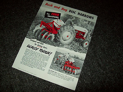Ford Bush And Bog Disc Harrows For Tractor Brochure Ad Literature