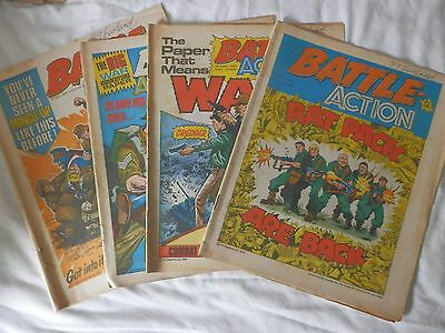 BATTLE and ACTION comic 4 issues (1978)