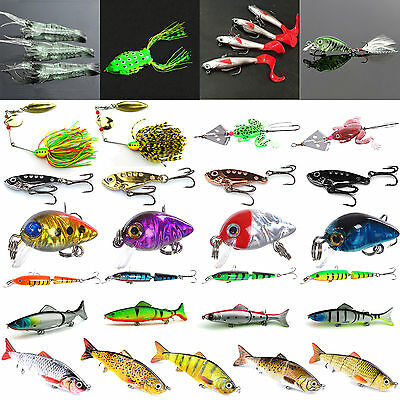 Fishing Lures Crankbaits Bass Spoons Minnow Fish Tackle Spinners Hook Crank Bait