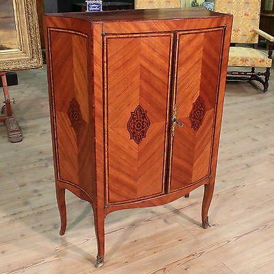 LOVELY HIGH SIDEBOARD CABINET WOOD OF ROSE NAPLES PERIOD '900 (H 115 cm)