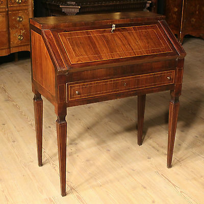 Bella Flap Fore Secretary Desk Style Louis Xvi Rosewood Italy '900