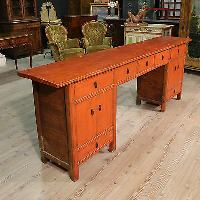 Console chinese furniture drawers desk table antique style 900 art antiquité XX
