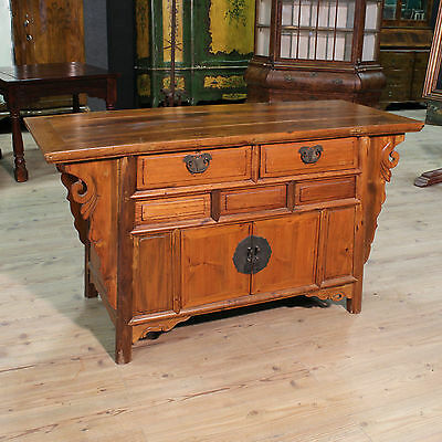 CUPBOARD EASTERN WOOD PAINT DECORATIONS IRON COLOUR wood PERIOD '900 (L 158 cm)