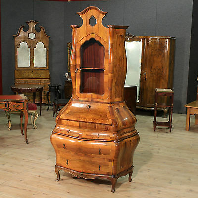TRUMEAU FORE URN MOVED CONVEX INLAID NUT BOSSO VENICE '900 (H 220 cm)