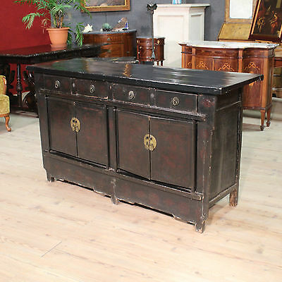 Special Cupboard 4 Doors 4 Drawers Lacquered Painted Chinese Period '900 L 170