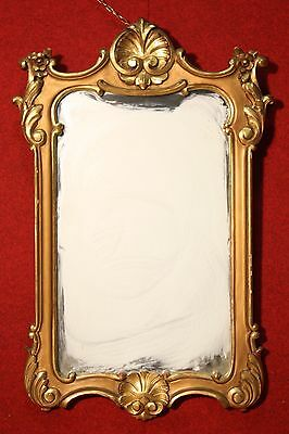 BELLA MIRROR ITALIAN CARVED GOLDEN QUALITY PERIOD FIRST '900 (H 101 cm)