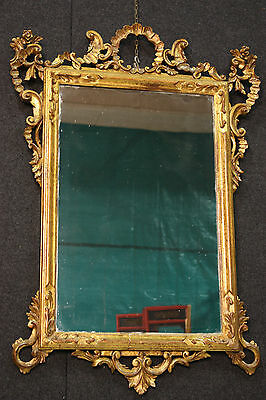Mirror venetian wood painted golden frame antique style 900 decoration cabinet