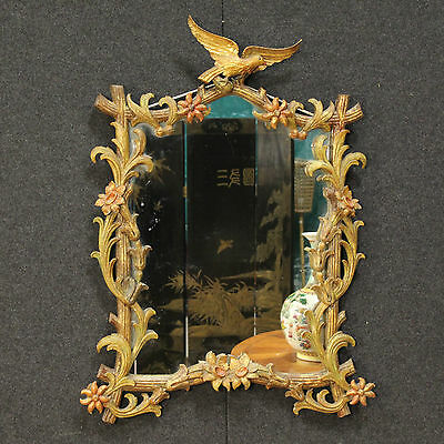 Mirror Wood Golden And Painted Style Liberty Italy Period '900 (H 103 Cm)