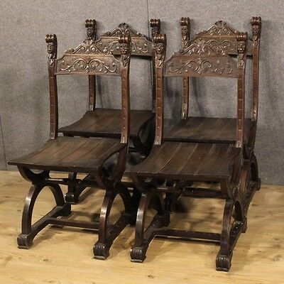 4 Chairs Furniture From Living Room Set Chairs Style Ancient Renaissance 900