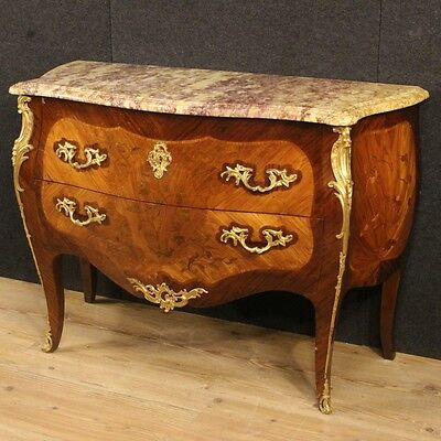 Dresser Inlaid Style Ancient Louis Xv Furniture Chest Of Drawers Bronze Xx