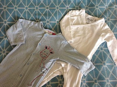 Baby Boys Body Suit Bundle: Sprout & Cotton On Size 1