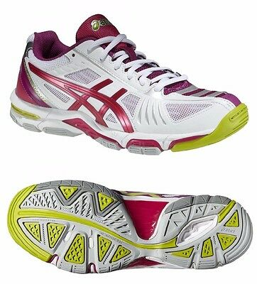 Womens Ladies Girls asics Gel-Volley Elite 2 Volleyball Court Shoes Trainers 6
