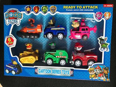 NEW 6 PCS Racer Car Marshall Rubble Rocky Chase Skye Zuma New Toy UK