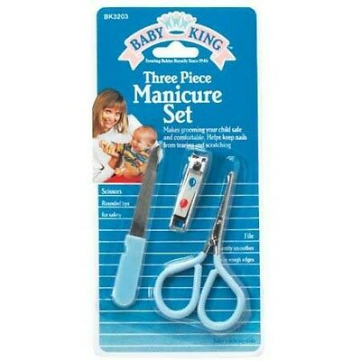 NEW BABY KING 3-PIECE MANICURE SET Brand New Free Shipping