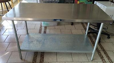 Stainless Steel Prep Table, Kitchen Island 30 X 60 X 35.75 Tall