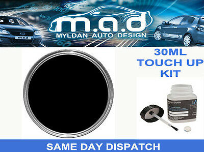 Gloss Black Touch Up Kit Repair Kit Paint With Brush Car Van Wheel Quad Bike Etc