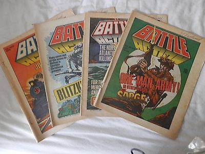 BATTLE and ACTION comic 4 issues (1979)