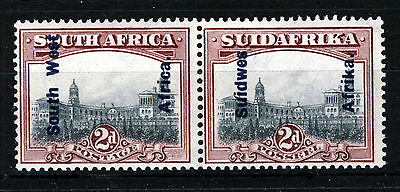 SOUTH WEST AFRICA 1927 Overprinted 2d. South Africa Bilingual Pair SG 49 MINT