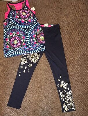 Justice Girls Active Sports Bra Tank Top Shirt Leggings Pants Outfit 8 10 NWT